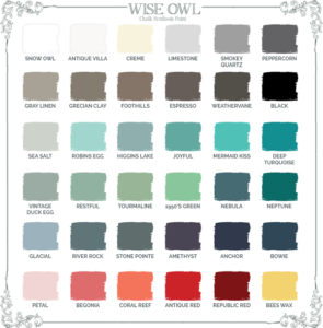 Chalk Synthesis Paint Color Chart