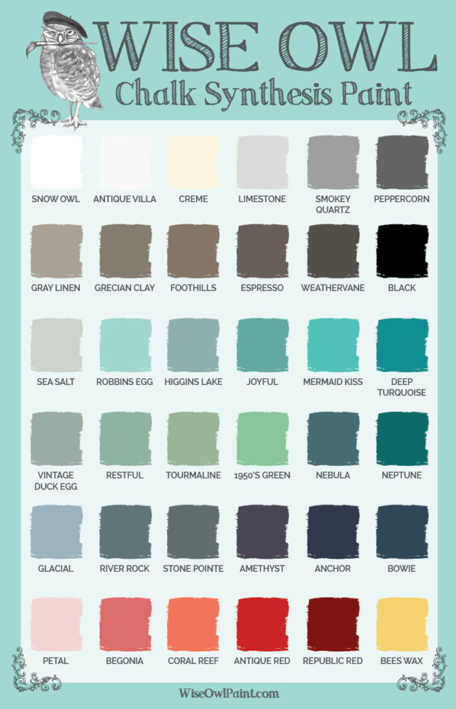wise owl color inspiration wise owl chalk synthesis paint