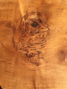 Hemp oil helped reveal serious beauty and dimension on this raw spalted maple slab.