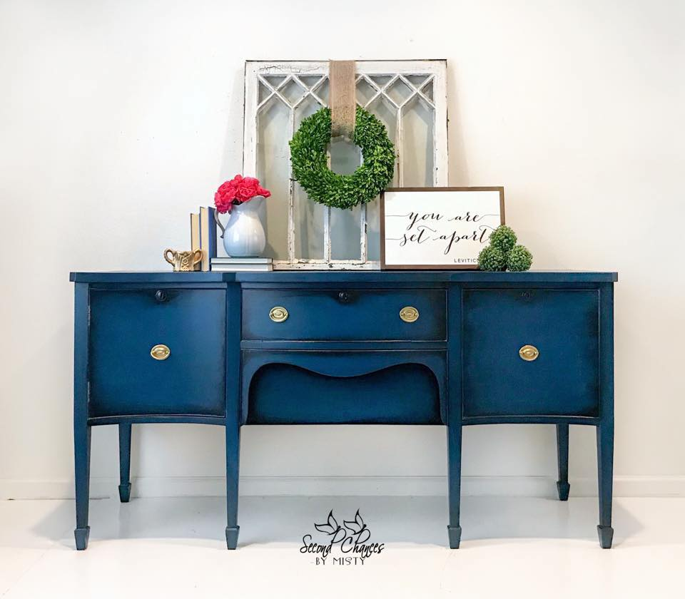 Astonishing Seasonal Limited Edition Prussian Blue Painted Sideboard Download Free Architecture Designs Embacsunscenecom