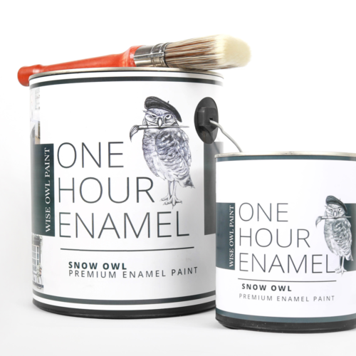 Our One Hour Enamel Paint is a total game changer for both professionals and DIY'ers alike! With its built in Satin top coat, this quick cure formula knocks out projects in record time.