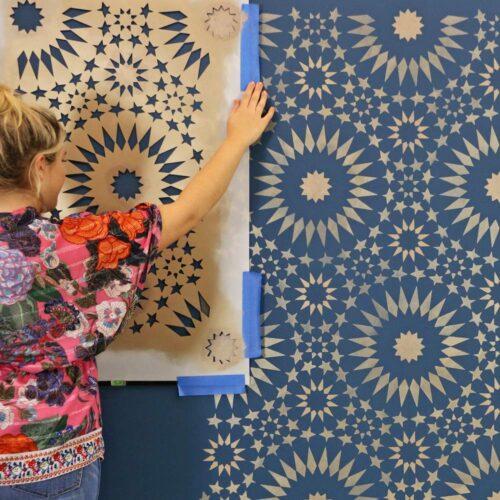 Cutting Edge Stencils - Ambrosia Moroccan Tile Pattern
